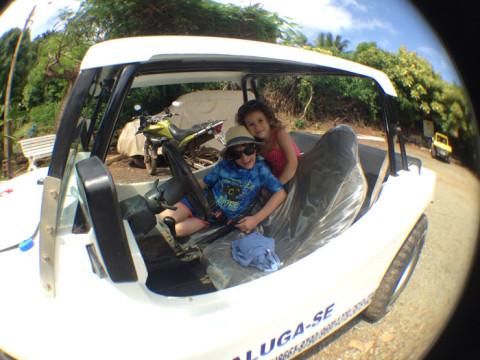 Alugamos o buggy com a VIP locadora, muito boa - quando o buggy deu problema, num instante eles chegaram pra resolver