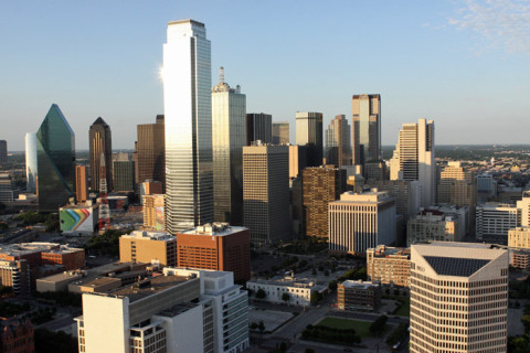 Downtown Dallas do alto da Reunion Tower