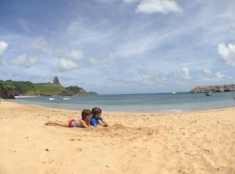 Nick e Bibi na praia do Porto