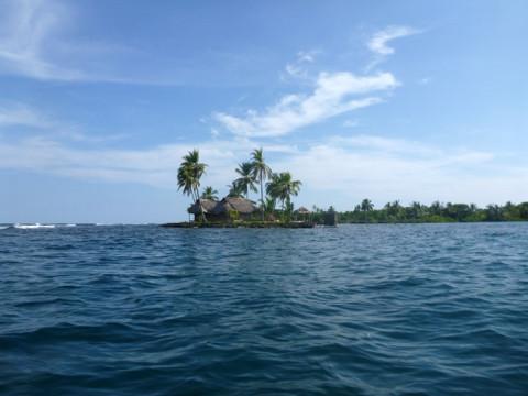 Uma das poucas ilhas habitadas em San Blás