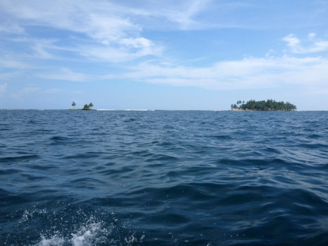 A caminho da Ilha Iguana - chamada Diadup na língua Kuna