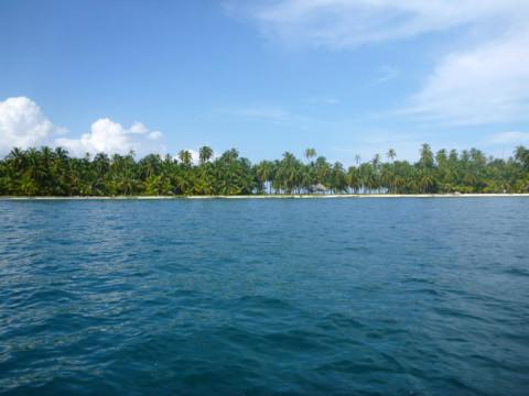 Chegando na ilha Iguana em San Blás