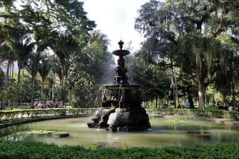 O chafariz famoso do Jardim Botânico