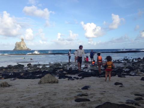 Entrando no berçário dos tubarões na praia do Atalaia