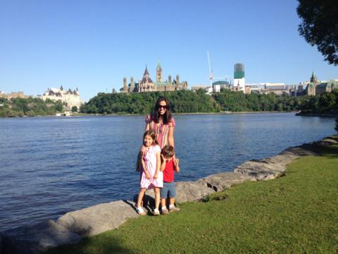 Nós com o Parlamento ao fundo, Ottawa, Canadá