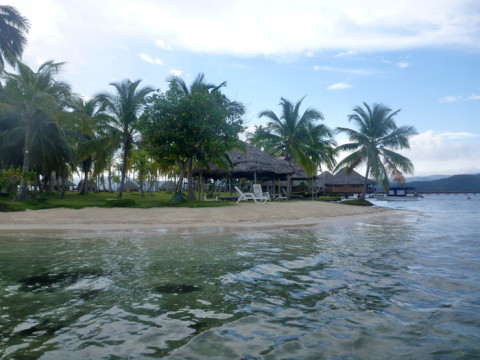 Chegando a ilha Yandup, nossa ilha nos próximos 4 dias
