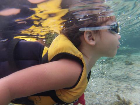 Bianca em ação no Atalaia procurando os tubarões