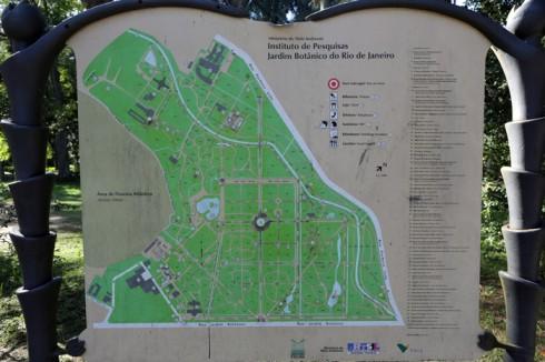 Mapa do Jardim Botânico - é bem grande, como vocês podem ver