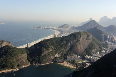 Primeira vista: Praia Vermelha, Praia de Copacabana