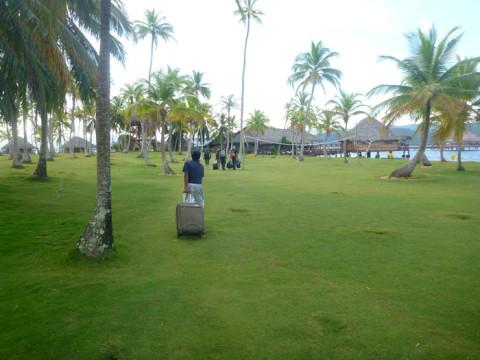 Chegando no Yandup Island Lodge, rumo a nossa cabana