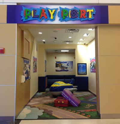 Play Port é um playground pra crianças pequenas no Terminal Norte