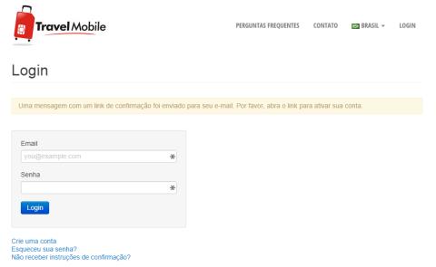 Eles vão mandar uma mensagem com link para confirmação do seu email
