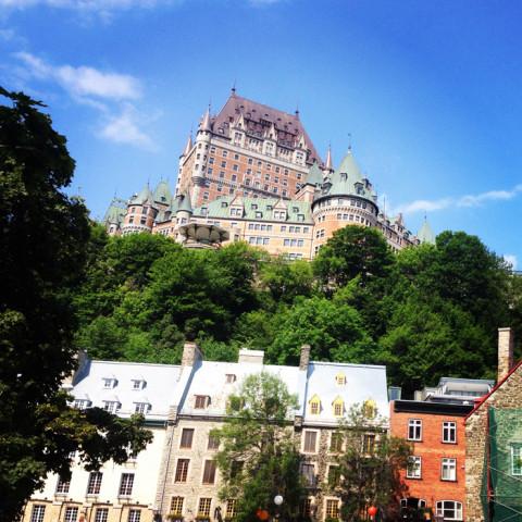 Chateau Frontenac e a cidade antiga de Quebec