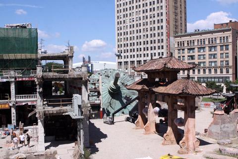 Cenário do filme Transformers 4 - não, não são as ruínas de Detroit!