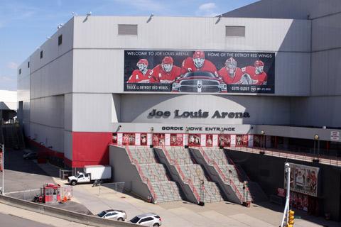 A casa dos Detroit Red Wings, 11 vezes campeão