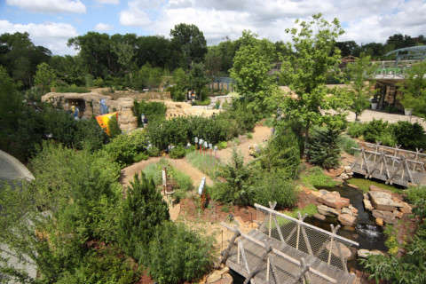 O Children's Garden visto de cima (da passarela)