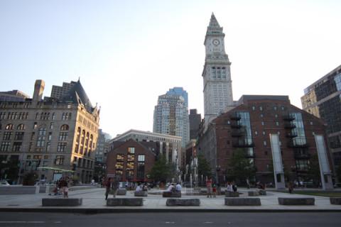 O centro de Boston, muito bonito