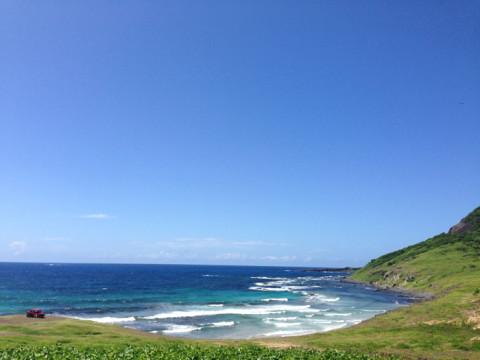 Vista do único posto de gasolina da ilha, mas não sei o nome dessa praia