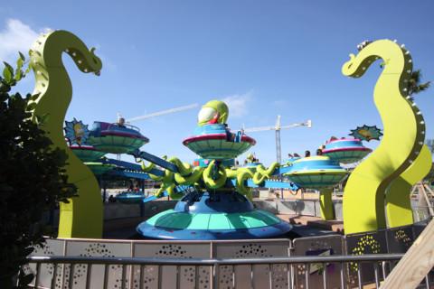 Twirl'n'Hurl, na área dos Simpsons