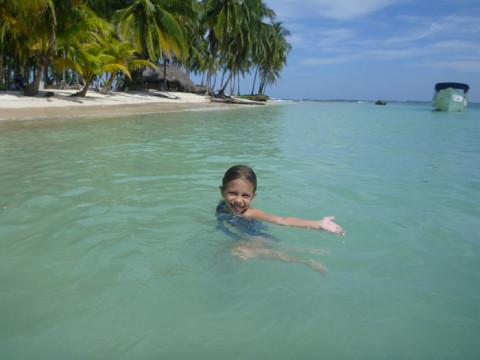 Julia nem gostou da praia ;-)