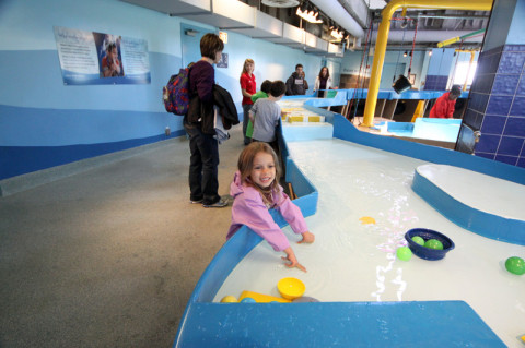 Julia no Museu das Crianças de Chicago, em 2012