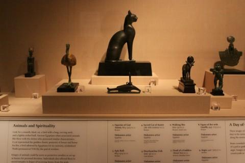 Esculturas egípcias no DIA