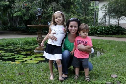 Eu, Julia e Eric na saída do Jardim Botânico