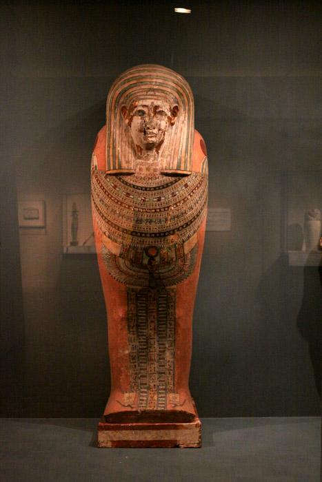 Um sarcófago egípcio no DIA