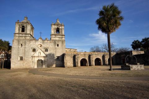 Missão Concepcion em San Antonio, Texas, fica dentro do Parque Nacional das Missões