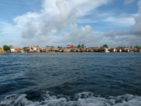 A ilha onde fica a comunidade Kuna