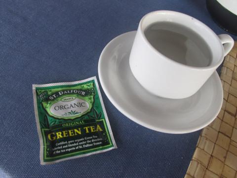 Pedi um chá pra acompanhar o café-da-manhã de hoje