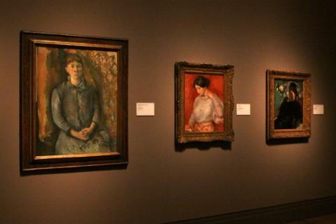 Madame Cézanne, de Paul Cézanne, 1886, Graziella, de Renoir, 1896 e Portrait of a Woman, Edgar Degas, 1877
