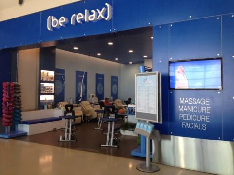 Salão de beleza e massagem no aeroporto de Detroit, Terminal McNamara