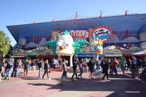 Entrada para a Simpsons Ride, uma das minhas atrações favoritas