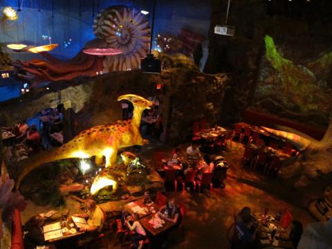 Um pedacinho do T-Rex Cafe em Kansas City