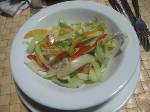 Saladinha do jantar do Yandup Lodge