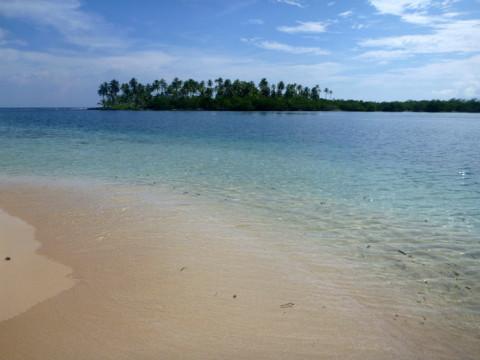 Prainha perfeita na ilha Arridup