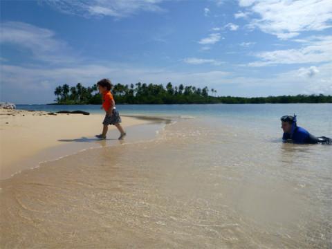 Eric preferia ficar na areia mesmo