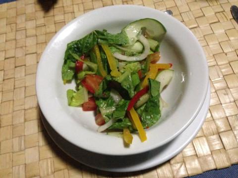 Saladinha do jantar, pena que estava com vinagre