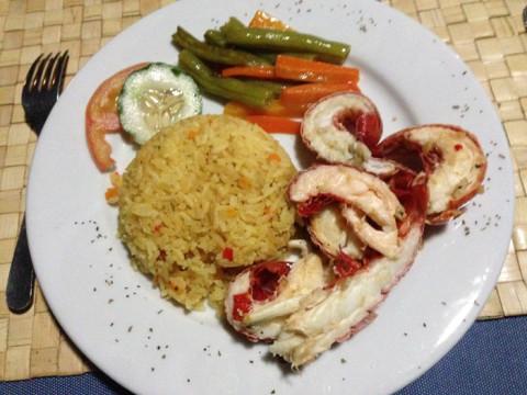 O meu prato com lagostins