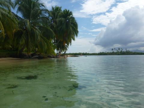 Água espetacular e o céu instável, comum na região