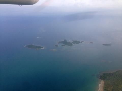 """Começando a sessão """"uau"""" com as ilhas e a costa de San Blás"""
