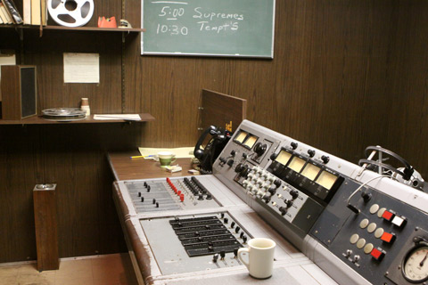 Control Room, com o equipamento original do Studio A