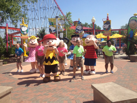 Charlie Brown e sua turma no Worlds of Fun em Kansas City