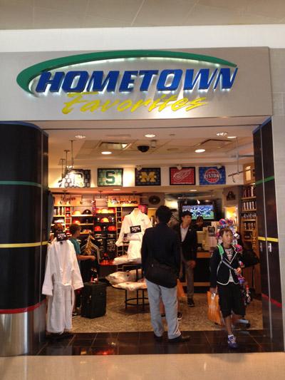 A loja Hometown Favorites tem camisetas dos times de Detroit
