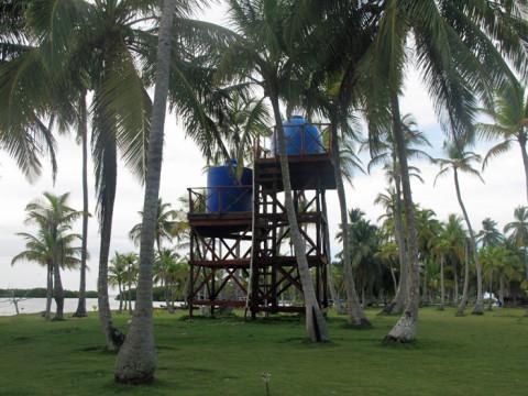 Reservatório de água do Yandup Lodge