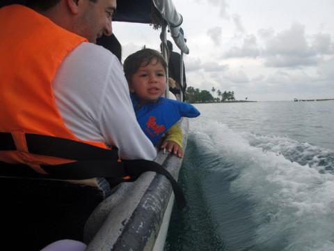 Eric curtindo o visual na volta pra ilha Yandup