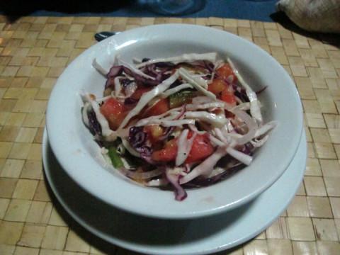 Saladinha do jantar, que todo mundo gostou