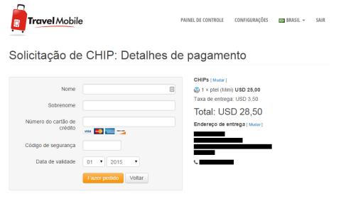 Coloque os dados pro pagamento do chip e confirme.