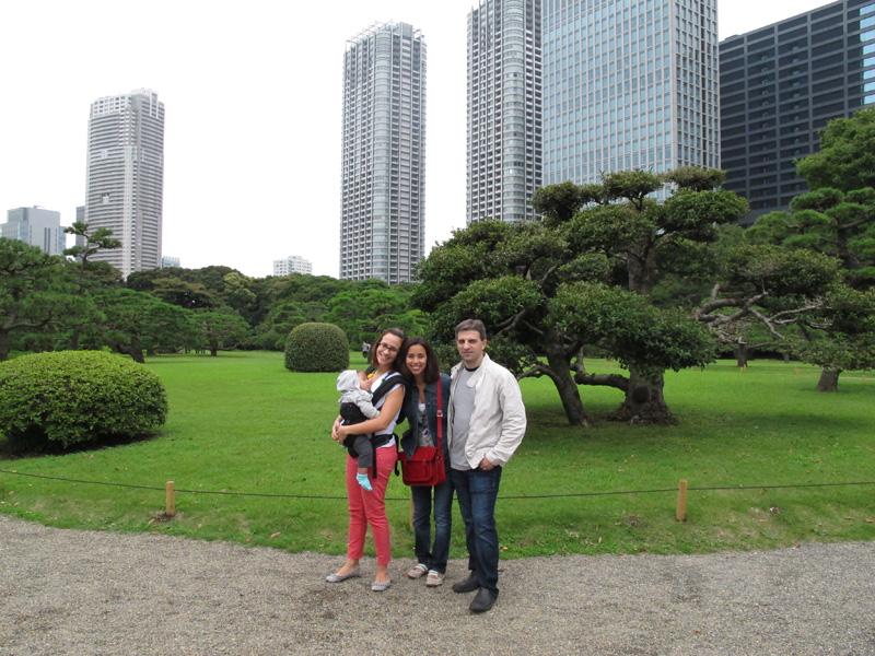 Mistura da Tóquio tradicional e moderna: jardins Hama-rikyu e passeio a Odaiba